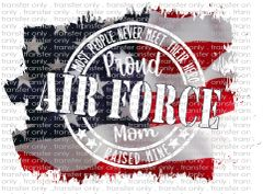 Sublimation Transfer - Air Force Mom
