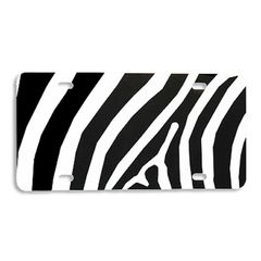 Black ZEBRA PRINT Heavy Plastic License Tag Blanks