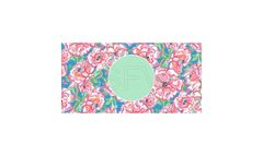 Lilly Pulitzer Inspired-Circle Frame Aluminum License Plate