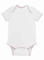 Infant Body Suit - Creeper - Scalloped Edge - Choose Color