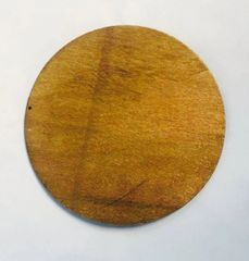 Light Pre-stained Wood Circle with Drilled Hanger Hole Vinyl Craft Blanks