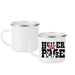 Enamel Coated Metal Sublimation Camp Mugs - Pre-coated for Transfers