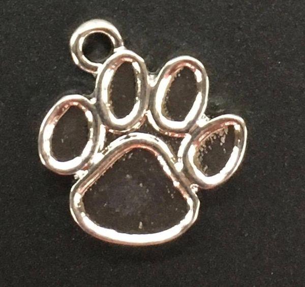 Paw Print Charm Tibetan Silver Metal