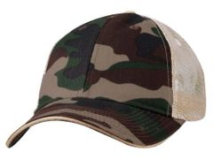 Mesh Back Sandwich Cap - Mid Profile - Camo/Tan