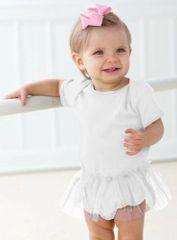 Infant Body Suit - Creeper - Tutu - White