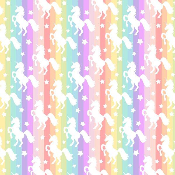 Unicorn Pattern Digitally Printed