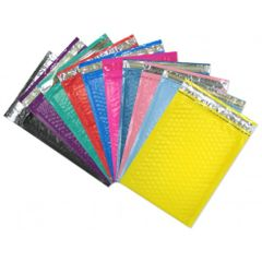 "10.5"" x 15.25"" LARGE Color Padded Bubble Mailing Envelopes"