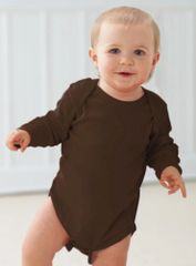 Infant Body Suit - Creeper - Long Sleeve - Brown