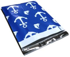 "Nautical Print Poly Mailers 10"" x 13"""