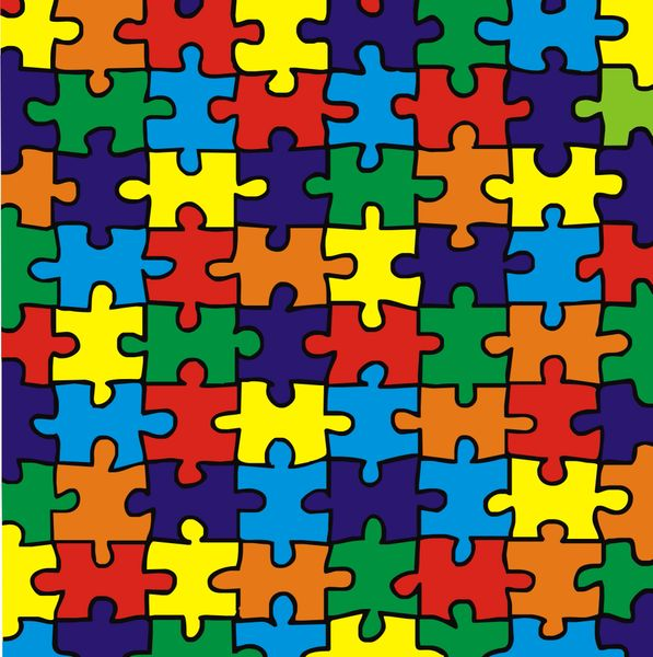 Autism Awareness Puzzle Print Sticky Fingers Vinyl Craft