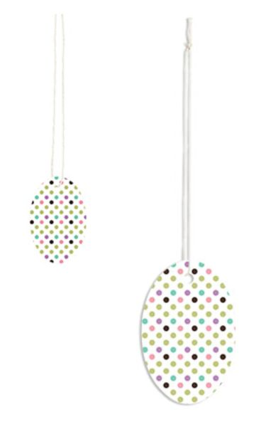 Small or Large Oval Playful Polka Dots Strung Price Tags