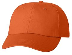 Cotton/Twill Cap - Low Profile - Orange