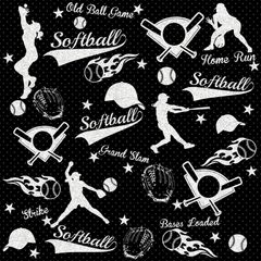 Softball Digitally Printed - Pattern 9