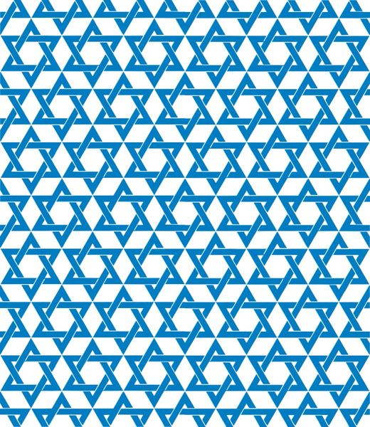Hanukkah Patterns Digitally Printed