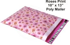 "Roses Flower Print Poly Mailers 10"" x 13"""