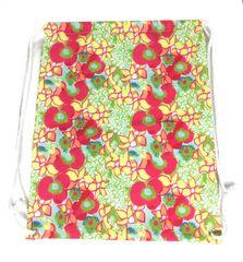 Cloth Drawstring Sport Bag - Lilly Pulitzer Inspired Pattern