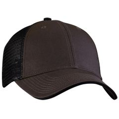 Mesh Back Sandwich Cap - Mid Profile - Charcoal/Black
