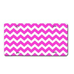 Pink CHEVRON PRINT Heavy Plastic License Tag Blanks