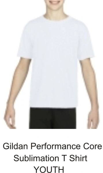 Sublimation Gildan Performance Youth Core T Shirt
