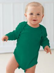 Infant Body Suit - Creeper - Long Sleeve - Kelly Green
