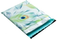 "Peacock Print Poly Mailers 10"" x 13"""