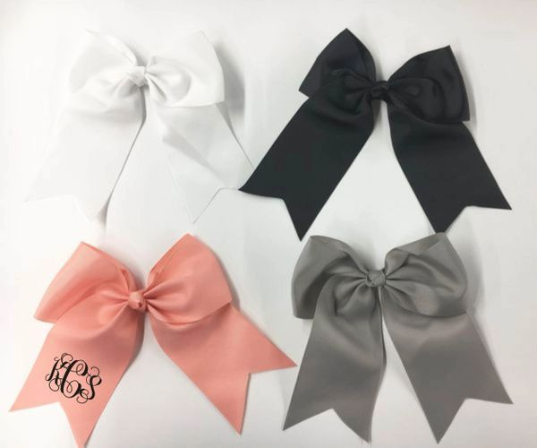 Alligator Clip Hair Bow - For Monograms