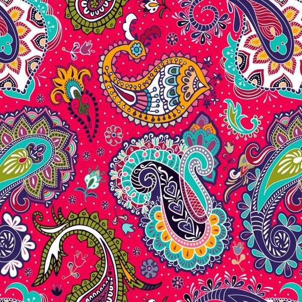 Paisley Patterns Digitally Printed