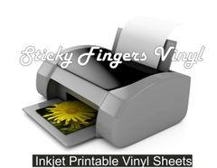 InkJet Printable Adhesive Vinyl (5 pack)