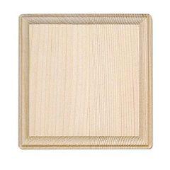 Wood Plaque - Square - 5 inches