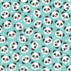 Panda Bear Patterns Digitally Printed - Pattern 3