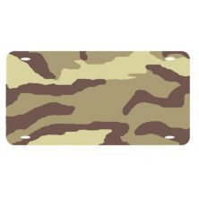 Army Camo Heavy Plastic LICENSE PLATE TAG Blanks