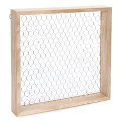 Chicken Wire Shadowbox - Unfinished - Wood - 12 x 12 x 1.125 inches