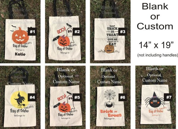 HALLOWEEN Cotton Tote Candy Bag