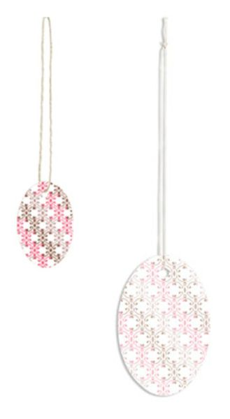 Small or Large Oval Romantic Scallop Strung Price Tags
