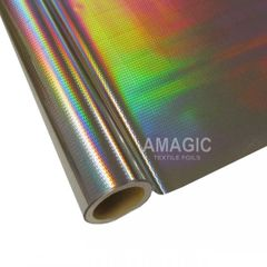 Metallic Heat Transfer Foil - Silver Scales