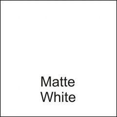 Matte White DuraGloss Intermediate Adhesive Vinyl