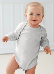 Infant Body Suit - Creeper - Long Sleeve - White