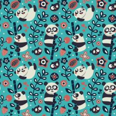 Panda Bear Patterns Digitally Printed - Pattern 1