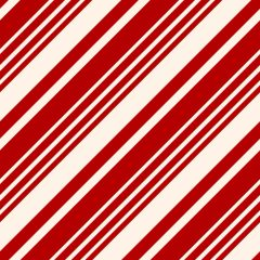 Christmas Candy Cane Pattern Digitally Printed