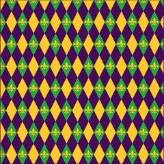 Mardi Gras Pattern Digitally Printed