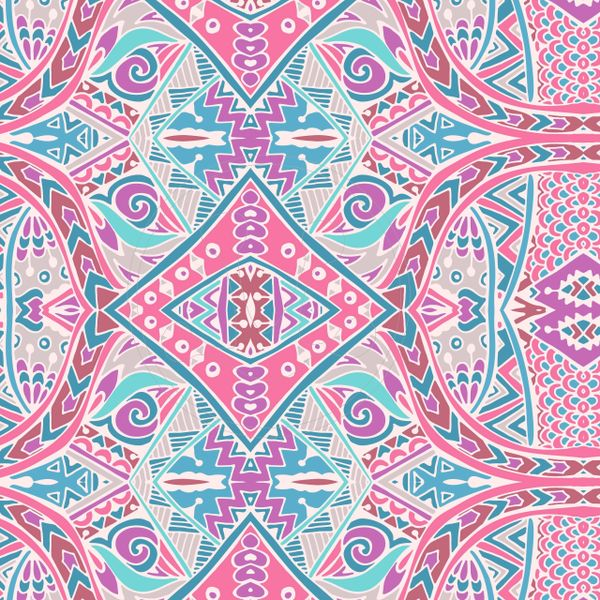 Aztec/Tribal Pattern Digitally Printed