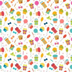 Party Pattern Digitally Printed