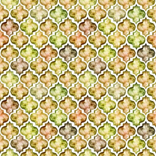 Quatrefoil Water Color Patterns Digitally Printed