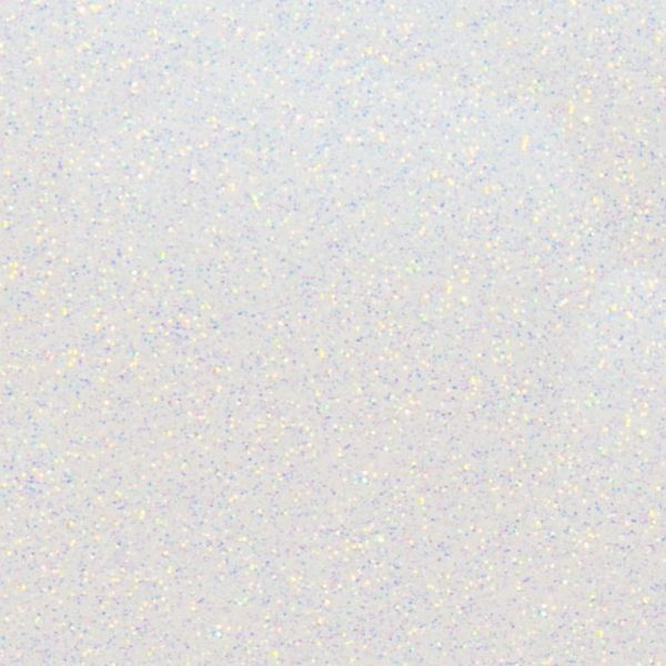 RAINBOW WHITE Heat Transfer Vinyl GLITTER Sheets