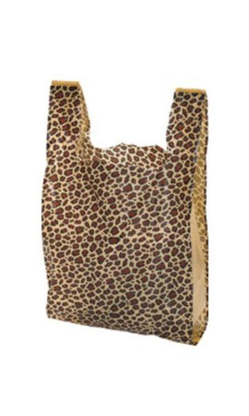 Plastic LEOPARD Merchandise Bag
