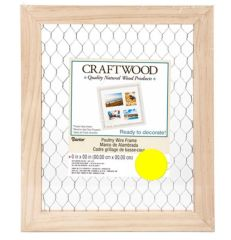 Craftwood Chicken Wire Frame - Unfinished - 9.5 x 11.5 inches