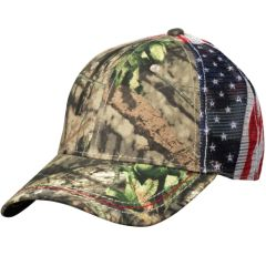 American Flag Mesh Back Cap - Camouflage