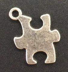 Puzzle Piece Charm Tibetan Silver Metal