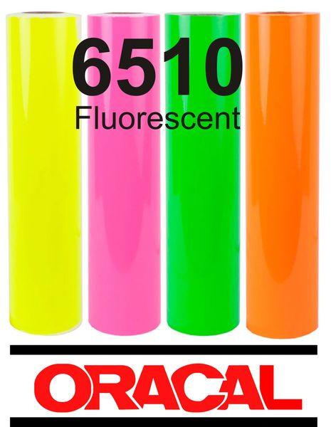 Oracal 6510 Fluorescent Yellow Adhesive Outdoor Vinyl