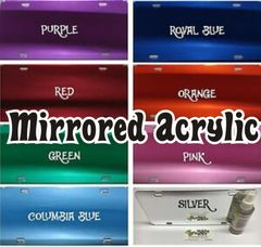 Mirrored Acrylic License Plate Blanks